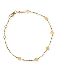 Zoe Chicco 14K Bitty Round Disc Station Bracelet Gold