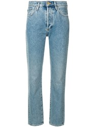 Gold Sign Goldsign Mid Rise Straight Jeans Blue