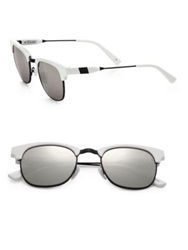 Westward Leaning Vanguard 11 49Mm Square Sunglasses White