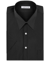 Van Heusen Poplin Solid Short Sleeve Dress Shirt