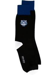 Kenzo Kenzo Paris Embroidered Socks Black