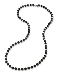 Carolee Black And White Rope Necklace
