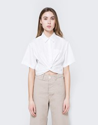 Alexander Wang Twist Front Crop Shirt White