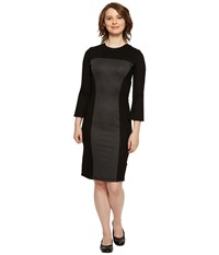 Independence Day Clothing Co Reversible Long Sleeve Panel Dress Black Charcoal Women's Dress