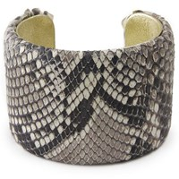 Charles And Perry Snake Skin Signature Cuff Natural Diamond