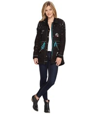 Double D Ranchwear Eagle Dancer Field Jacket Black Women's Coat