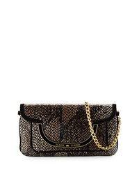 Elaine Turner Designs Elaine Turner Greta Snake Print Leather Shoulder Bag Bark Python
