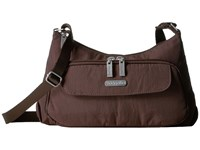 Baggallini Everyday Bagg Java Cross Body Handbags Brown