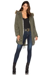 Sanctuary Kara Winter Faux Fur Parka Army