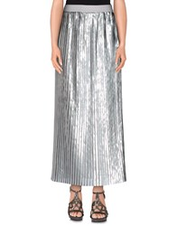 Brian Dales Skirts Long Skirts Women Silver