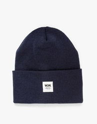 Wood Wood Tall Beanie In Navy