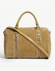 Zadig And Voltaire Sunny Medium Suede Tote Brown