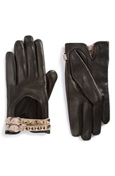 Valentino Women's Rockstud Leather Driving Gloves