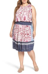 Lucky Brand Plus Size Women's Kerry Mixed Print Knit Dress