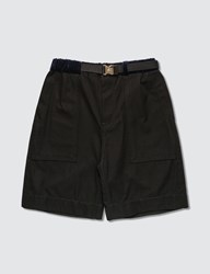 Sacai Gramiccl Cotton Twill Shorts Black