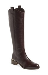 Women's Louise Et Cie 'Zada' Knee High Riding Boot Burnt Oak Leather