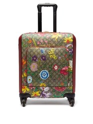 Gucci Gg Flora Coated Canvas And Leather Cabin Suitcase Multi