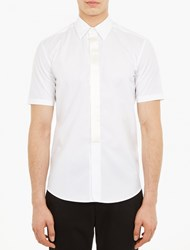 Marc Jacobs Satin Placket Short Sleeved Shirt