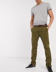 Scotch And Soda Slim Fit Chinos Green