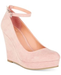 Material Girl Vivie Wedge Pumps Only At Macy's Women's Shoes Blush