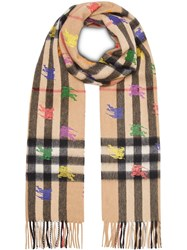 Burberry The Classic Check Cashmere Scarf In Ekd Print Brown