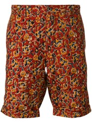 Incotex Floral Bermuda Shorts Red