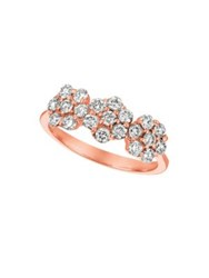 Morris And David Diamond 14K Rose Gold Floral Ring