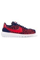 Nike Roshe Ld 1000 Jacquard Suede And Leather Sneakers Red