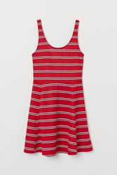 Handm H M Sleeveless Jersey Dress Red