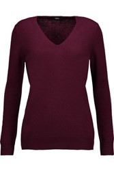 Theory Wynn Cashmere Sweater Burgundy