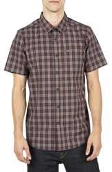 Volcom Men's Plaid Sport Shirt Blue Sulfer