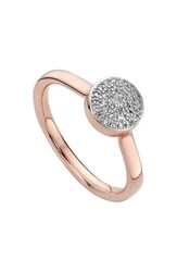 Monica Vinader Women's 'Ava' Diamond Button Ring Rose Gold