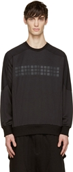 D.Gnak By Kang.D Black Reflective Print Sweatshirt