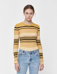 Just Female Crystal Striped Knit Multi Stripe