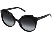 Marc Jacobs 105 S Shiny Black Dark Gray Gradient Lens Fashion Sunglasses