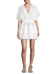 Kas V Neck Embroidered Lace Dress White