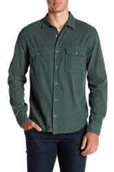 Save Khaki Long Sleeve Baby Cord Camp Shirt Green