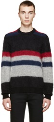 Cnc Costume National Multicolor Striped Mohair Sweater