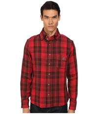 Vivienne Westwood Anglomania Padded Details Shirt Red Men's Long Sleeve Button Up