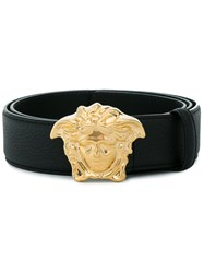 Versace Palazzo Belt With Medusa Buckle Calf Leather Black