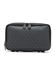 Emporio Armani Logo Print Wash Bag Grey