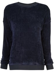 Tibi Classic Fitted Sweater Blue