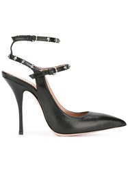 Red Valentino Star Studded Pumps Black