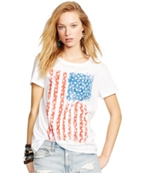 Denim And Supply Ralph Lauren Relaxed Fit Flag Graphic T Shirt