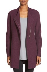 Women's Eileen Fisher Asymmetrical Boiled Merino Wool Jacket