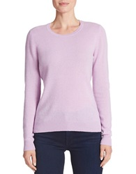 Lord And Taylor Petite Basic Crewneck Cashmere Sweater Lavender