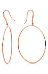 Lana Jewelry Wire Bangle Hoop Earrings Rose Gold