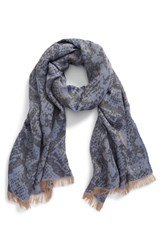 Women's Jimmy Choo Metallic Pattern Woven Scarf