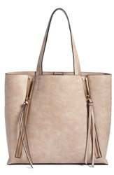 Chelsea 28 Chelsea28 Leigh Faux Leather Tote And Zip Pouch Grey Grey Flint
