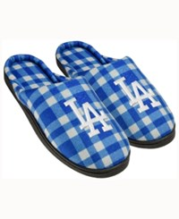 Forever Collectibles Los Angeles Dodgers Flannel Slide Slippers Blue